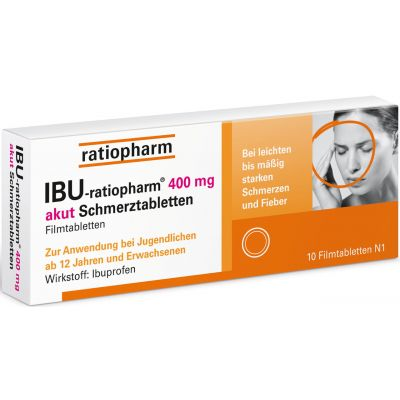 IBU RATIOPHARM 400 mg akut Schmerztabletten Filmtabletten