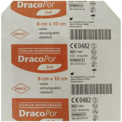 Dracopor Wundverband steril 10x8cm