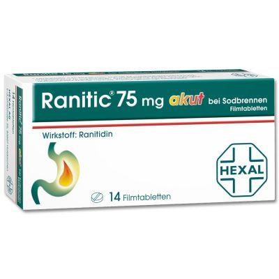 Ranitic 75 akut bei Sodbrennen