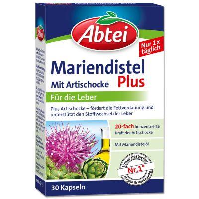 Abtei Mariendistelöl Plus Artischocke + Vitmain E Kapseln