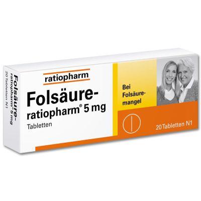 Folsäure-ratiopharm 5mg