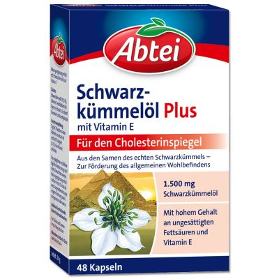 Abtei Schwarzkümmelöl Plus Vitamin E Kapseln