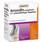 Amorolfin-ratiopharm 5% wirkstoffhaltiger Nagellack