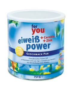 FOR YOU eiweiss power Pur Pulver