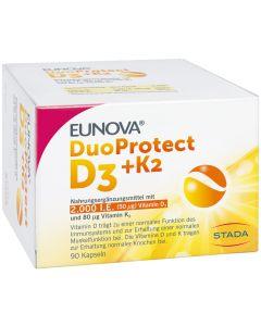EUNOVA DuoProtect D3+K2 2000 I.E./80 myg Kapseln