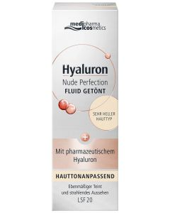 Hyaluron Nude Perfection Getöntes Fluid LSF 20 - sehr heller Hauttyp